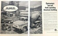 1956 GMC Truck Cement Vintage Advertisement Print Art Car Ad Poster LG76