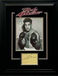 Rocky Marciano Boxing Champ Signed Autograph Framed Photo Display Beckett BAS
