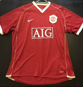 Men's Nike Manchester United AIG Red Soccer Jersey Sz XL