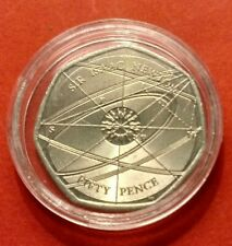 2017 SIR ISAAC NEWTON 50 PENCE COIN.IN CAPSULE.VERY GOOD CONDITION.