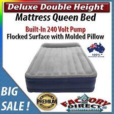 Double Height Deluxe Mattress Queen Bed Built-In 240V Pump Sleep Molded Pillow