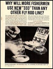 1962 Cortland's 333 Flote Cote Fly Fishing Rod Line Vintage Print Ad