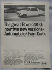 1966 Rover 2000 Original advert No.3