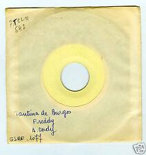 45 RPM SP ANNIE CORDY TEST PRESSING TANTINA DE BURGOS