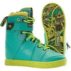HYPERLITE PROCESS MEN'S WAKEBOARD BOOTS – COLOR: GREEN – SIZE: 9 – NEW!!!