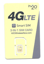 USA H2O Wireless 3 in 1 sim card              At&t nationwide network