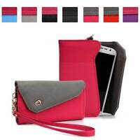 Womens Link Wallet Case Clutch Cover for Smart Cell Phones by KroO CRWL13