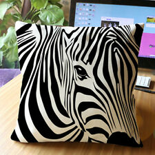 Zebra Printed Pillow Case Cotton Linen Throw Cushion Cover Car Sofa Home Decor