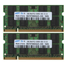 Samsung 4GB 2X 2GB PC2-5300 DDR2-667MHz Laptop Memory For Dell Inspiron 1525