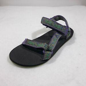Teva Womens Sandals Hiking Comfort Purple Green Hook Loop Size 7 Water Shoes