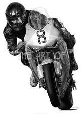 Guy Martin Wilson Craig Honda Isle of Man TT fine art print by Billy