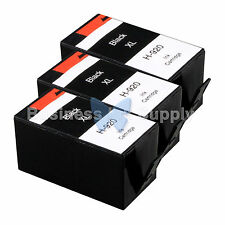 3 BLACK 920XL NEW GENERIC 920 HIGH YIELD 920XL w/Chip+INK LEVEL for HP Printer