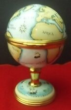 Halcyon days Enamels Clock Globe On Stand New
