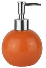 Distributore di sapone Arancione Dosatore Porta sapone tondo