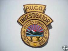 """New""  Ohio Public Utilities Comm Invs. Police Sleeve Patch"