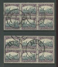 SOUTH AFRICA 1931-34 2d BLOCKS ALL UPRIGHT WMK...BENONI