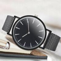 Herren Mode Business Watch einfache Mesh Gürtel Analog Quarz Runde Armbanduhr