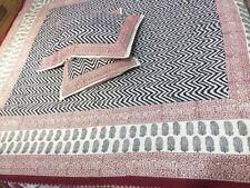 Ethnic Bedspread Ralli King SIze Vintage Kantha Quilt Indian Handmade Blanket YZ