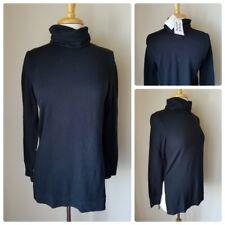 Madison & Berkeley Side Slit Turtleneck Black Sweater Long Sleeve Knit Top XS