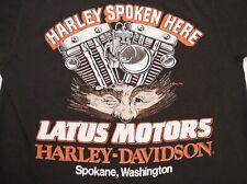 Vintage 1989 Harley Davidson Pocket Tee T-shirt S Spokane Rad Artwork Holoubek