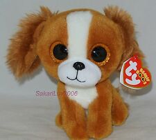"""New! 2017 Release Ty Beanie Boos Tala the brown & white Dog 6"""" size nwt's"""