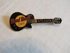 Beautiful Brooch Pin Gold Tone Signed Hard Rock Cafe Atlanta Enamel Guitar NICE