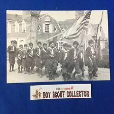 Boy Scout Postcard Black Cub Scout Pack REPRINT National Scouting Museum