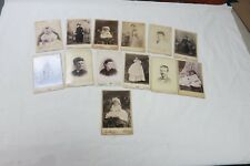 Vintage Victorian Edwardian cabinet photo lot OF 13 WOMEN CHILDREN