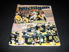 MICHIGAN STADIUM PROGRAM MICHIGAN VS. OHIO STATE NOV 25, 1989  / EXCELLENT