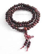 1 x 6mm Sandalwood Mala Bead Bracelet Necklace 108 RED Meditation Prayer Beads