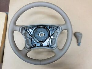 2003 MERCEDES-BENZ W220 S500 STEERING WHEEL AND SHIFT KNOB NEW OEM TAN 6015835