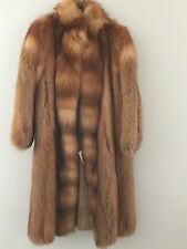 BEAUTIFUL WOMEN'S VINTAGE RUSSIAN RED FOX FUR COAT, SMALL / MEDIUM