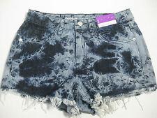 New Womens Mossimo High Rise Tie Dye Short Short Size 4/27 Shorts Denim Jean