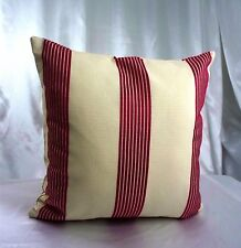 "Striped Throw Pillows  Sham Cushion Pillowcases Throw Red Ivory 16"" Cases Couch"