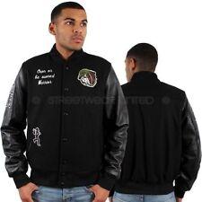 Cappotti e giacche da uomo Bomber, Harrington nero in lana