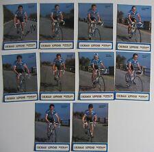 Equipe COLNAGO LAMPRE SOPRAN 1991, 10 Cartes Cyclisme