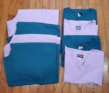 Women's 2X Plus Cherokee Scrub Sets Lot of 4 sets (8 pieces) 2 teal, 2 purple