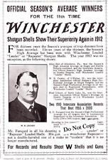 "Antique ad ""Winchester Shotguns Shells Show Superiority Again in 1912"" Photo"
