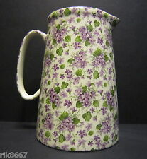 Heron Cross Pottery Violet 4 Pint English Milk Jug very big (vase)