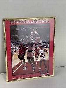 Rare Michael Jordan 1988 Starline Mini Poster w/ Scottie Pippen BULLS 8x10