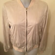 ASOS ZIPPED BEIGE JACKET SIZE 10 NEW WITH TAGS