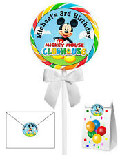 40 MICKEY MOUSE CLUBHOUSE BIRTHDAY STICKERS LOLLIPOP LABELS PARTY FAVORS 2 INCH