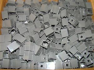 Lot of 10 Lego 2x2x2 Grey Boxes with Open Top NEW