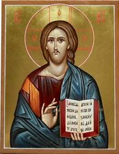 Hand painted Orthodox icon of Christ the Teacher