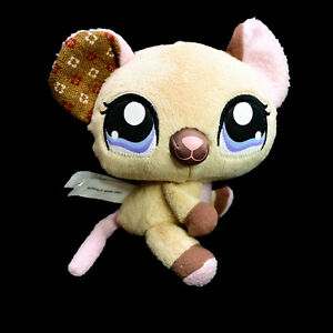 Littlest Pet Shop Hasbro Mouse Washed and Clean Plush Soft Stuffed Toy 15cm 2009