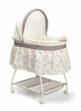 Baby Nursery Crib Furniture Musical Bassinet Bed Infant Cradle Newborn Bedding