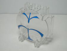 LEGOS - Trans-Clear Windscreen 3 x 6 x 5 Bubble with SW Blue Forcefield Pattern