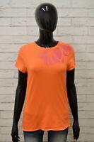 Maglia PUMA Donna Taglia M Maglietta Shirt Woman Maniche Corte Cotone Arancione