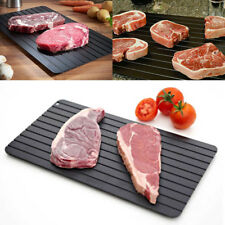 Black Fast Defrosting Tray Kitchen The Safest Way to Defrost Meat Or Frozen Food