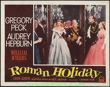 ROMAN HOLIDAY LOBBY CARD 11x14 Size MOVIE POSTER AUDREY HEPBURN N.MINT Card #6